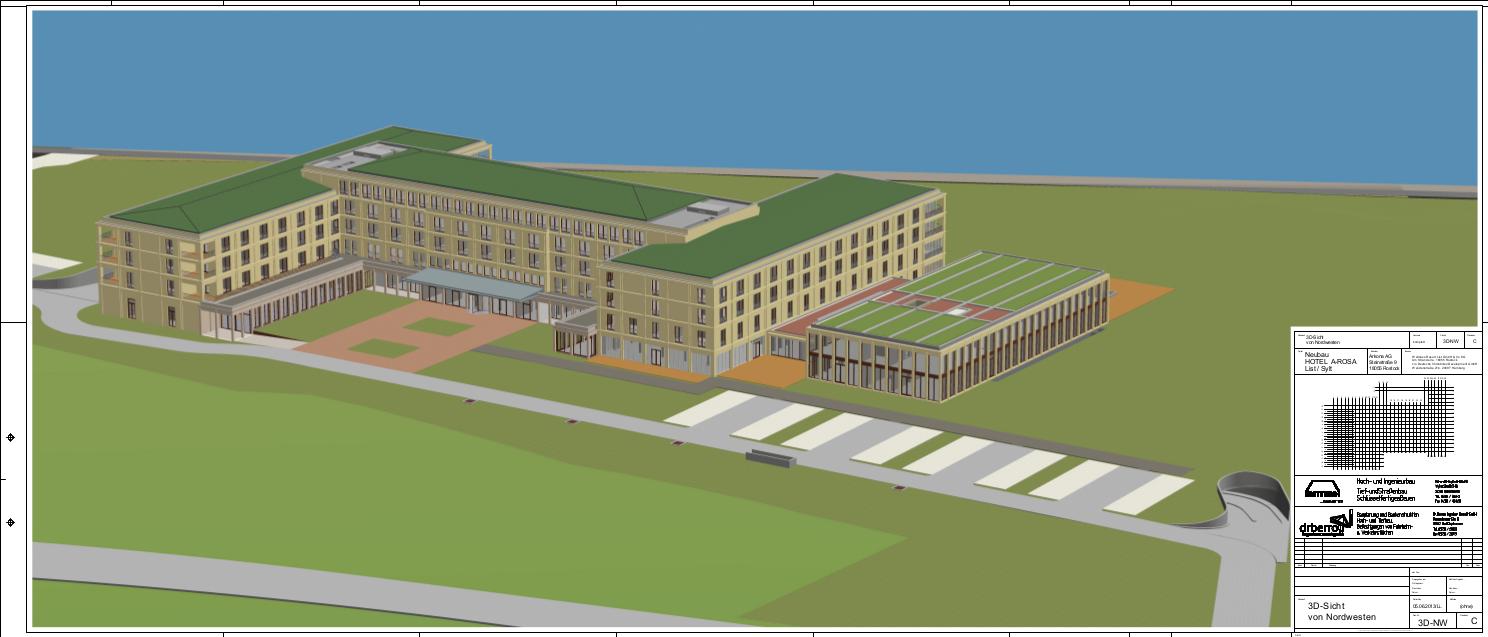 3D-NW_C - 3D-Sicht von NW  A-ROSA Sylt